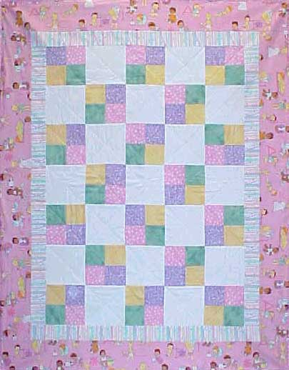 Beginner Quilt Patterns For Baby : Easy Baby Quilt Patterns for Beginners
