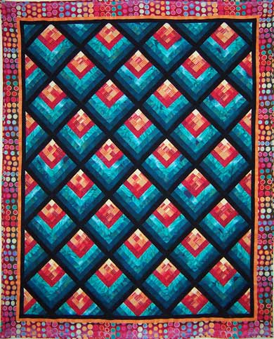 QuiltingWorks - Free Quilt Patterns - Cabin Fever Quilt